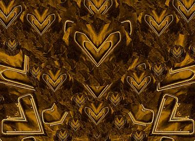 Figure Mixed Media - Yellow Pop Art Hearts by Pepita Selles