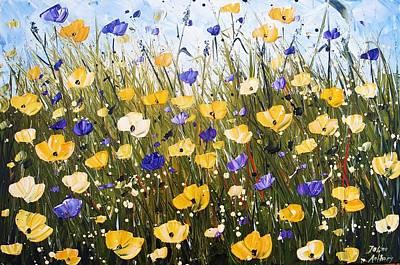 Painting - Yellow Poppis by Jolina Anthony