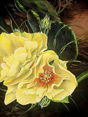 Painting - Yellow Prickly Pear by Donna Page