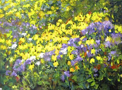 Painting - Yellow Purple by Ingrid Dohm