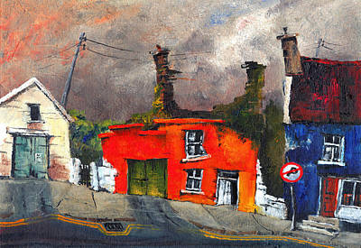 Painting - Yellow Red And Blue by Val Byrne