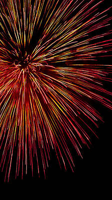 Photograph - Yellow Red Firework Explosion by Weston Westmoreland
