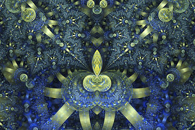 Digital Art - Yellow Ribbons by Sandy Keeton