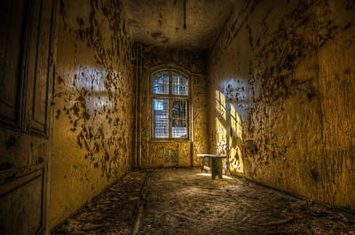 Abandoned Digital Art - Yellow Room by Nathan Wright