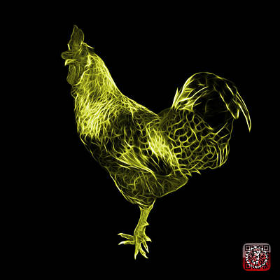 Digital Art - Yellow Rooster 3186 F by James Ahn