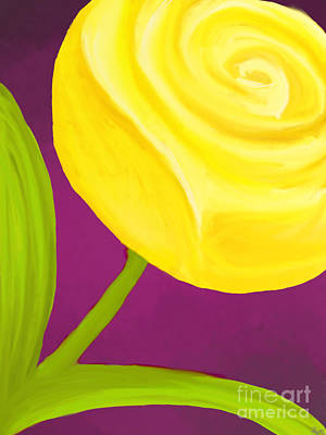 Painting - Yellow Rose by Anita Lewis