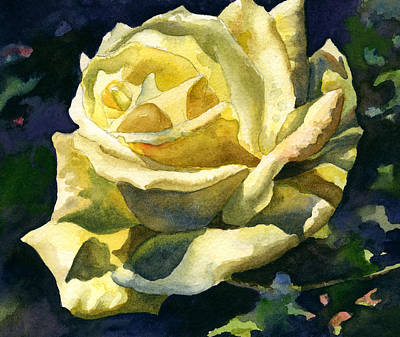 Painting - Yellow Rose by Anne Gifford