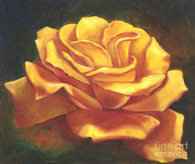 Painting - Yellow Rose by Audrey Peaty