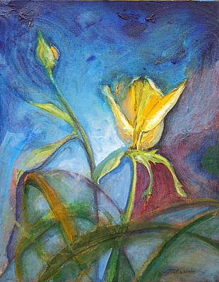 Painting - Yellow Rose by Dayton Claudio