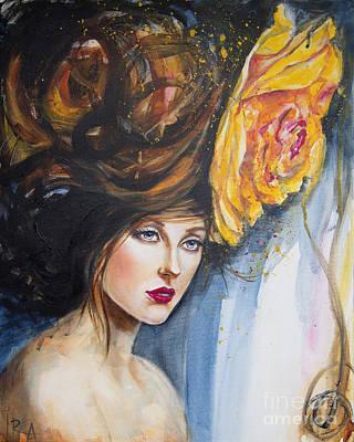 Yellow Rose Original by Ira Ivanova