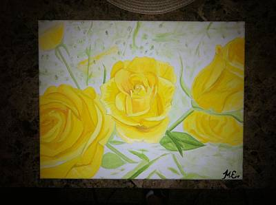 Painting - Yellow Rose by Mike Eliades