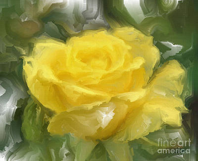 Digital Art - Yellow Rose Of Texas by Ruby Cross