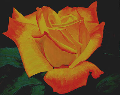 Painting - Yellow Rose by Stan Hamilton