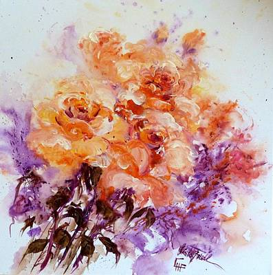 Painting - Yellow Roses by Christa Friedl