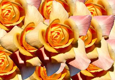 Passionflower Digital Art - Yellow Roses by Diana Burlan