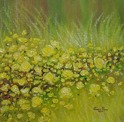 Painting - Yellow Roses For Debbie by Judith Rhue
