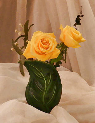 Photograph - Yellow Roses For Friendship by Grace Dillon