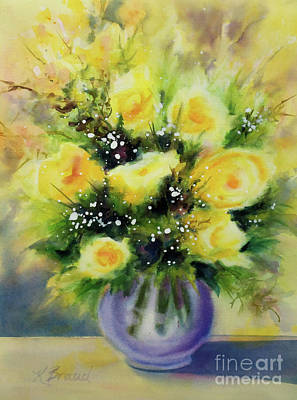 Painting - Yellow Roses by Kathy Braud