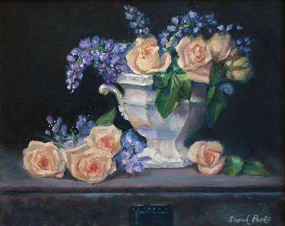 Yellow Roses Art Print by Sarah Parks