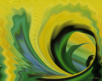 Digital Art - Yellow by rd Erickson