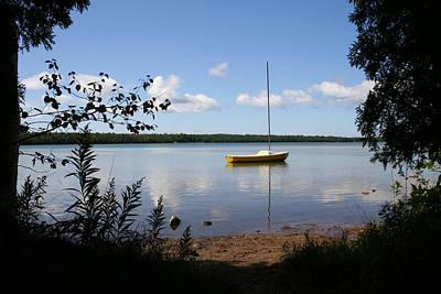 Photograph - Yellow Sail Boat by Stephanie  Kriza