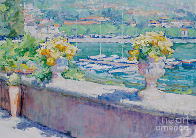 Lake Como Painting - Yellow Seduction by Jerry Fresia