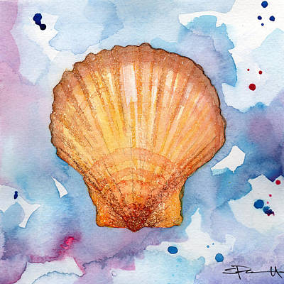 Painting - Yellow Shell by Sean Parnell
