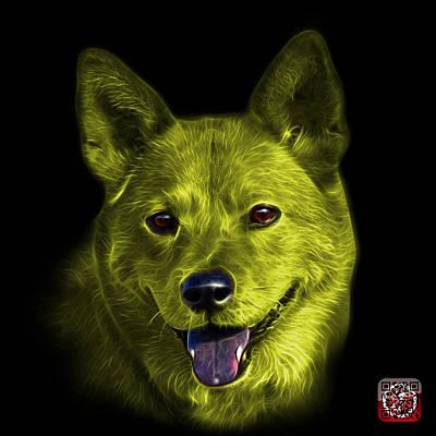 Mixed Media - Yellow Shiba Inu Dog Art - 8555 - Bb by James Ahn
