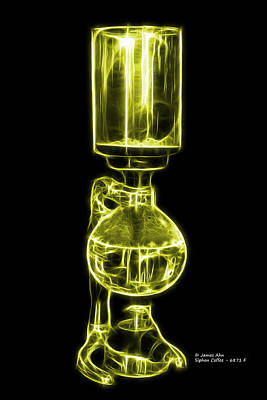 Digital Art - Yellow Siphon Coffee 6781 F by James Ahn