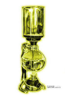 Digital Art - Yellow Siphon Coffee 6781 F S by James Ahn