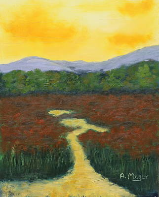 Painting - Yellow Sky by Alan Mager