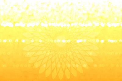 Valentines Day Digital Art - Yellow Spirograph by Chastity Hoff