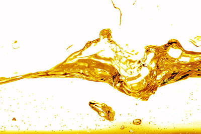 Drink Photograph - Yellow Splash Abstract by Michal Bednarek
