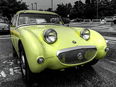 Austin Photograph - Yellow Sprite 001 by Lance Vaughn