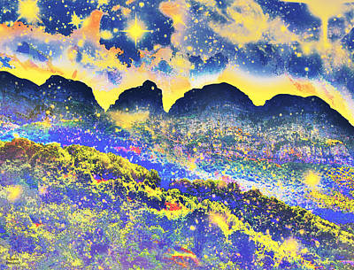 Photograph - Yellow Stars Over Mountains by Augusta Stylianou