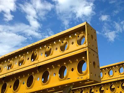 Yellow Steel Four Art Print