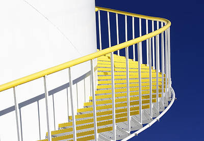 Photograph - Yellow Steps 2 by Robert Woodward
