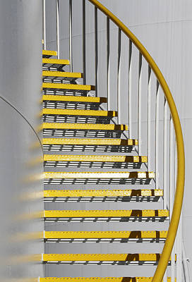 Photograph - Yellow Steps 3 by Robert Woodward