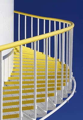 Photograph - Yellow Steps On Tank by Robert Woodward