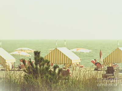 Photograph - Yellow Striped Cabanas by Colleen Kammerer