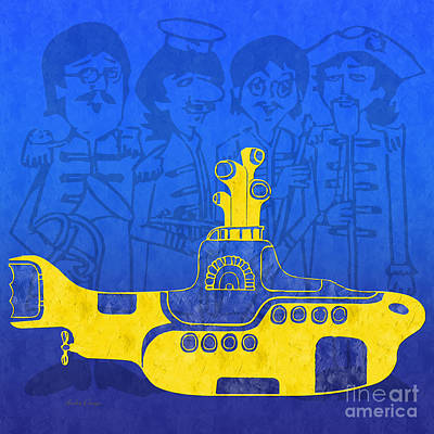 Digital Art - Yellow Submarine by Andee Design