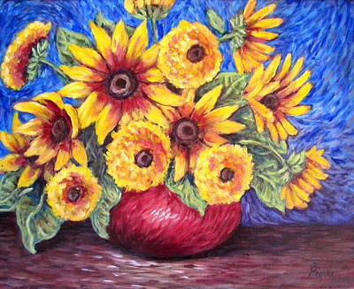 Painting - Yellow Sunflowers by Sebastian Pierre