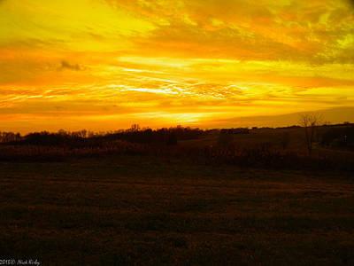 Photograph - Yellow Sunset by Nick Kirby