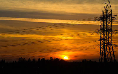 Photograph - Yellow Sunset by Rima Biswas