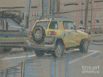 Painting - Yellow Suv by Donald Maier