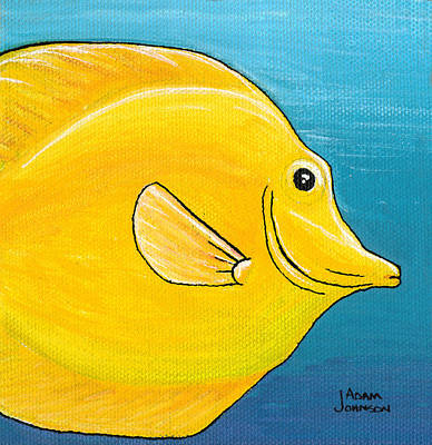 Painting - Yellow Tang by Adam Johnson