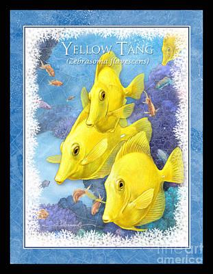 Yellow Tang Art Print