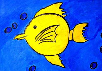 Painting - Yellow Tang by Fred Hanna
