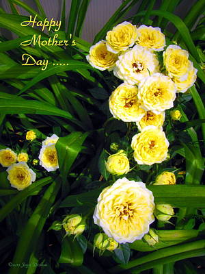 Photograph - Yellow Tea Rose  Happy Mother's Day by Joyce Dickens