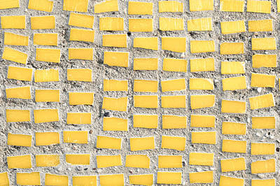 Mural Photograph - Yellow Tiles by Tom Gowanlock